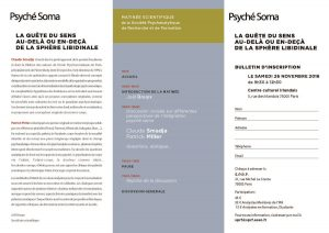 Psyché Soma - La quête du sens - flyer