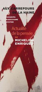 Flyer Aux carrefours de la haine - Actualité Micheline ENRIQUEZ